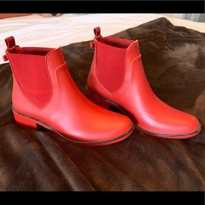Kate Spade Red Sedgewick Rain Boots